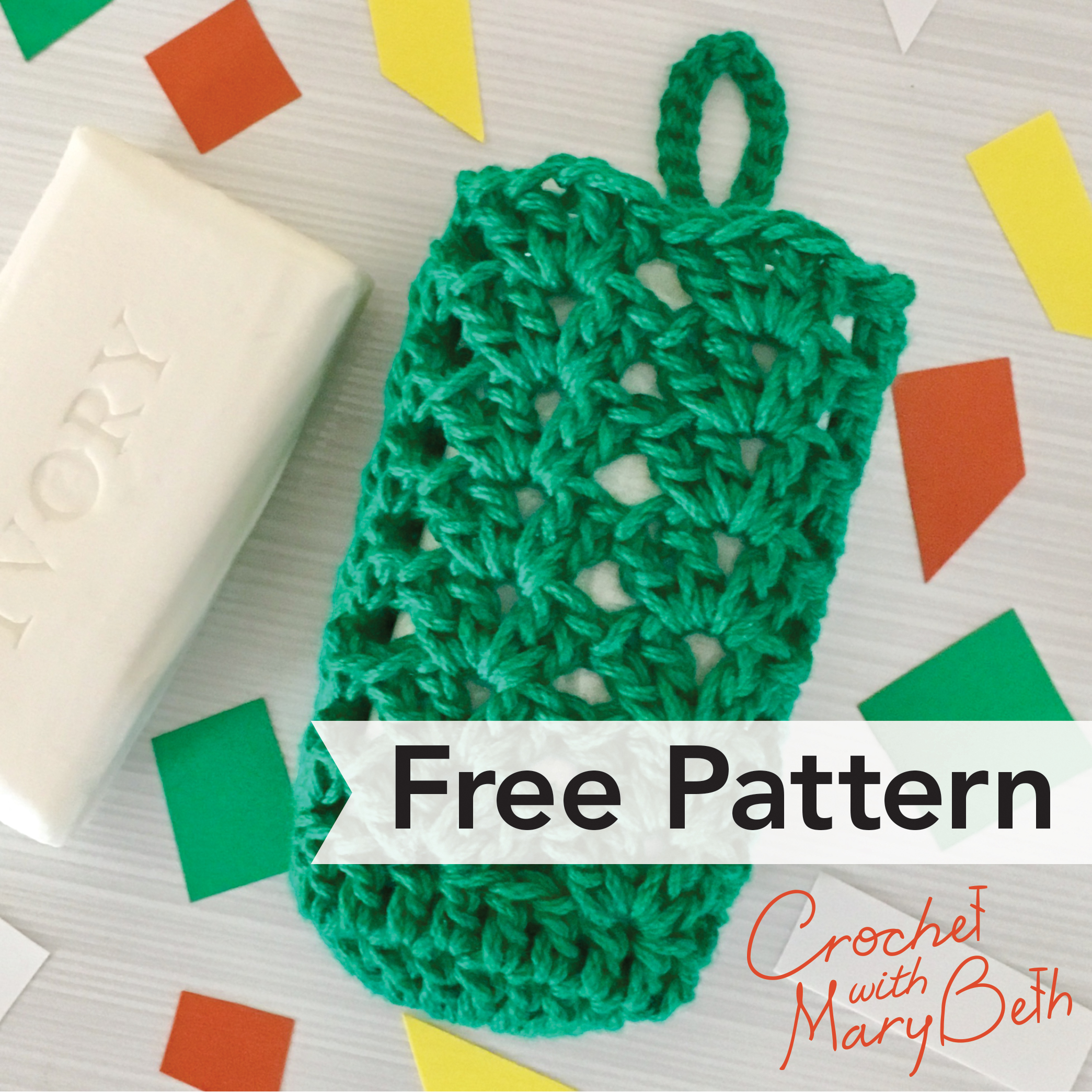 Free Crochet Pattern Soap SACK Teacher Gift