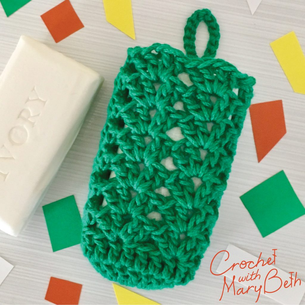 Free Crochet Pattern for Soap SACK Charity
