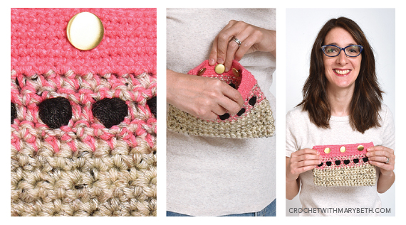 Free Crochet Pattern Polka Purse