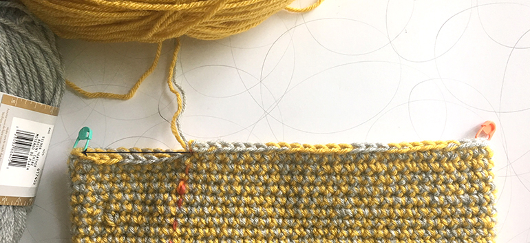Stitching to the beginning of the round