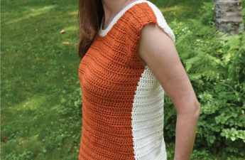 The Two Tone Tee with Ties is a free crochet pattern.