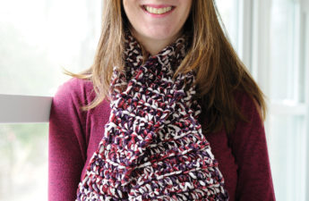 Free crochet scarf pattern - The Majestic Keyhole Scarf