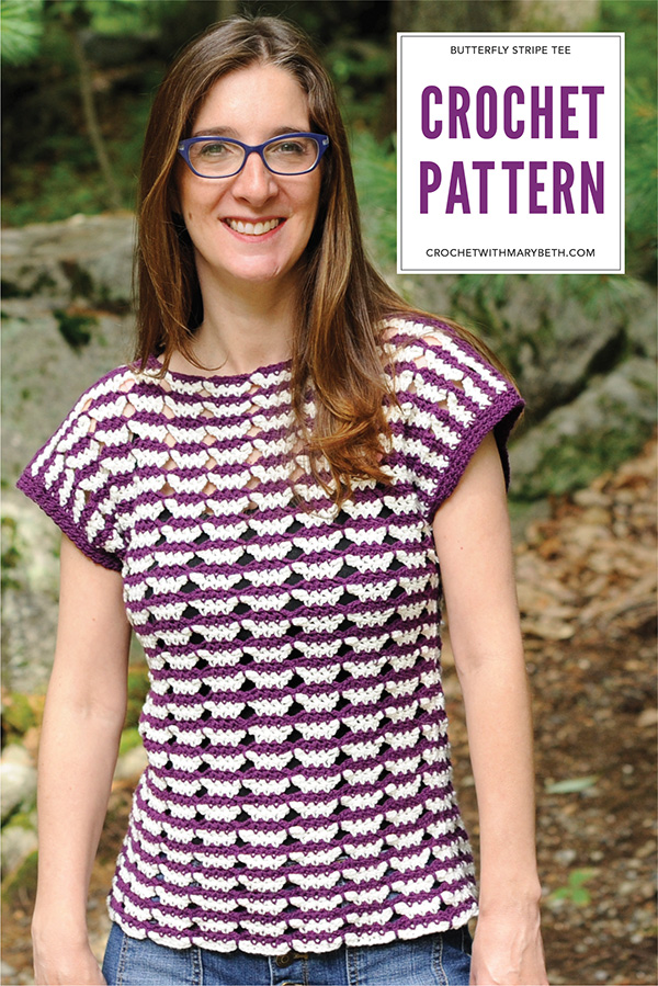Looking for a modern, creative crochet pattern for a top? This pattern from Crochet with Mary Beth is fun, quick, and stylish. Click through to see more pictures and a description on the blog.