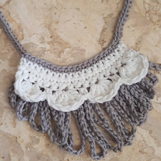 The Victorian trend is hot and so is this crochet necklace by YaYa.