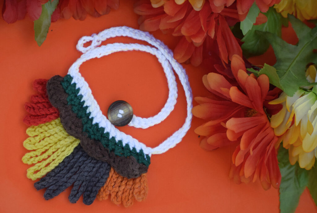 Wendy made a crochet accessory perfect for fall.