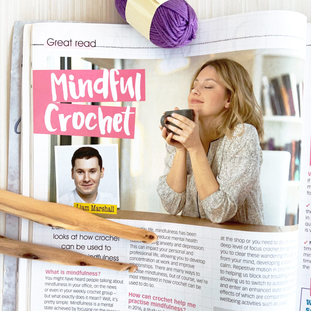 Learn about mindful crochet from Crochet Now Magazine.