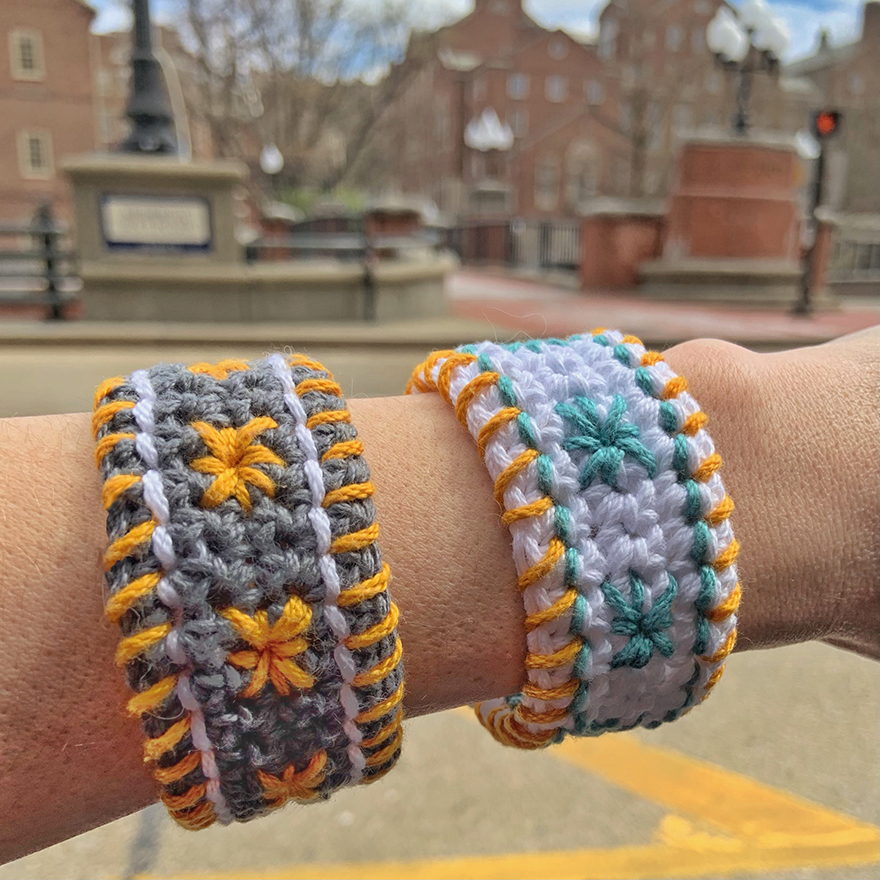 The Star Studded Bracelet Free Pattern on Crochet with Mary Beth is a fun and easy intro to embroidering on crochet.