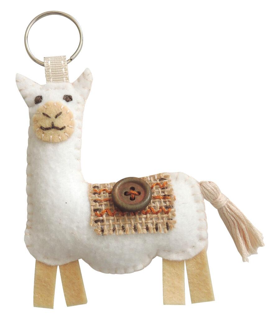 Felt Llama Key Chain
