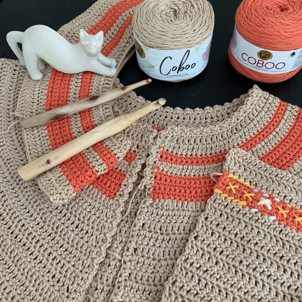 Instead of frogging your crochet projects create a second sample.  Then you can choose which to continue with.