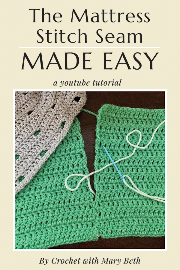This video will teach you how to crochet the mattress stitch seam. When I was trying to learn this seam I watched a lot of videos that made the stitch seam complicated but once I figured it out it was so easy. In this video I show you how easy the mattress stitch really is. I also give you tips to make the stitch extra invisible. You will have the hang of it in just a few minutes. Visit the video to start learning!