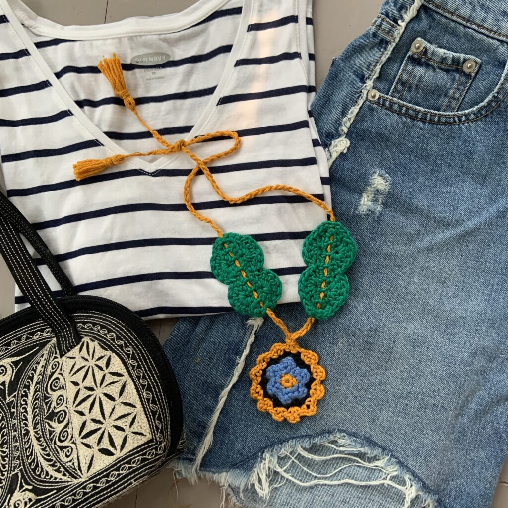 The Once and Floral necklace brings eye catching detail to any outfit.