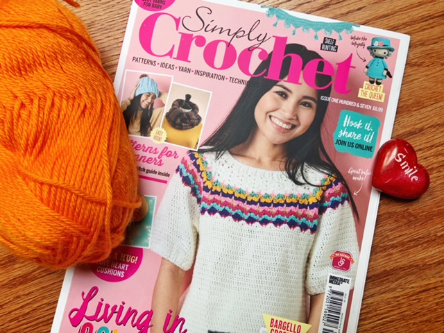 Simply Crochet Magazine has a beautiful cover and the inside is equally beautiful.  Find out what else I love about this magazine in my review.