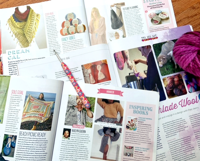 Simply Crochet Magazine has a wealth of interesting articles.  It's a great way to keep up on the what's happening in the world of crochet.  Find out what else I love about this magazine in this article.