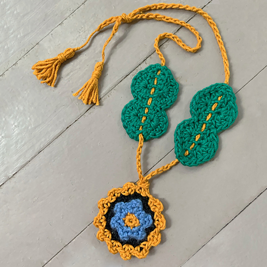 The Once and Floral Necklace.  And inspirational and unique piece of crochet jewelry that you can make in an afternoon.